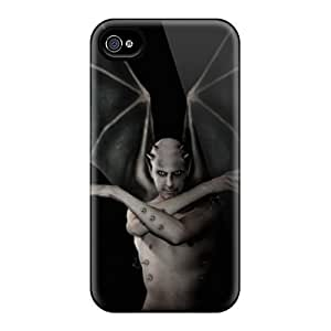Hot Design Premium RWjAYAN4681aqYyn Tpu Case Cover Iphone 4/4s Protection Case(vampire)