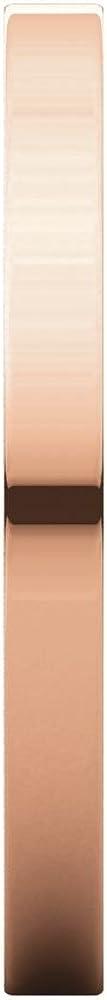 14K Rose Gold 2mm Flat Band