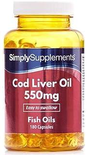 Aceite de Bacalao 550 mg - 360 cápsulas - Hasta 6 meses de suministro - Con
