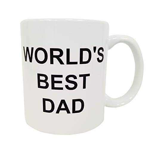 World's Best Dad Coffee Mug Michael Scott The Office TV Cup Father's Day Gift]()