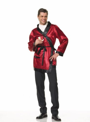 Leg Avenue Men's Bachelors Smoking Jacket Adult Robe & Pipe Fancy Costume, OS (Up to 50) ()