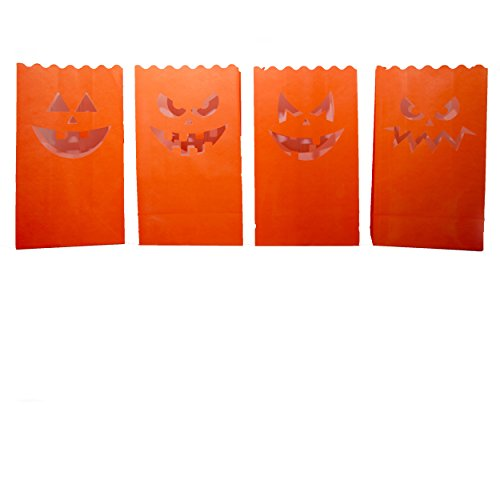 Spooktacular Jack O'Lantern Halloween Luminary Bag Set of 24 ()
