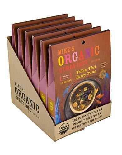 Yellow Thai Curry Paste ORGANIC   case of 6 x 2.8 oz pouches