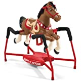 Radio Flyer Duke Interactive Riding Horse, Red, 36 x 41 x 21''