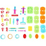 Ludos Playdough Set - 37 Pcs Play Dough Tools Set Including, Cookie Cutters, Extruders, Rolling Pin, Dough Cutter - Playdough Toys Dinosaur, Animal, Fruit, Food Molds. Playdough Accessories for All.