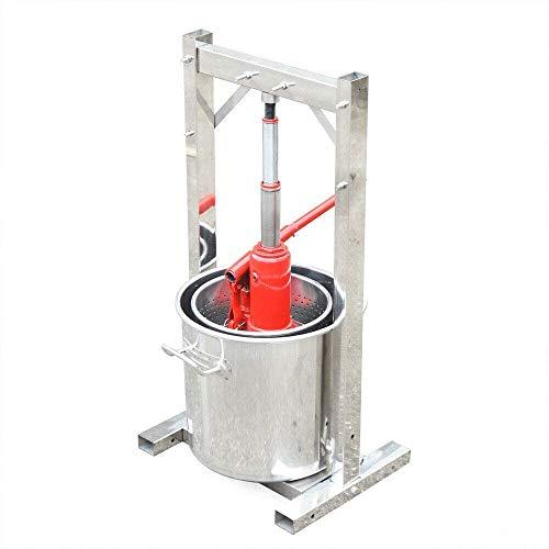 12L Fruit Press Wijnpers RVS Cider Maker Druif Crusher Bier maken Tool Juice Fruit Grinder Molen met Hydraulic Jack…