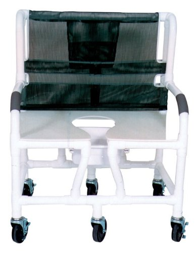 MJM 130-5 Bariatric Shower Chair with Full Support Commod...