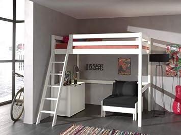 Etagenbett 180 90 : Vipack hochbett mit liegefläche 90 x 200 cm kommode und sessel