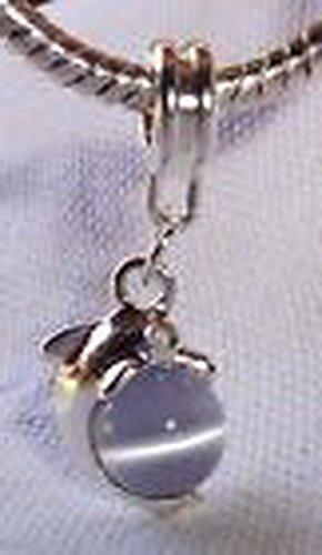 Glamorise Beads #14391 Gray Cat's Eye Dolphin Ocean Beach Shore Dangle Bead for European Charm Bracelet