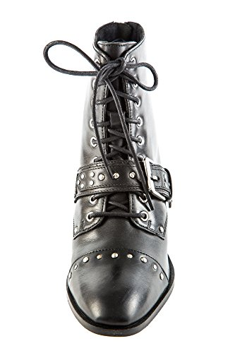 Zapatos Mujer Lisa 46981 EU Piel Negro Cordones 38 de de BR1 Bronx Negro Para A 8BwxtBv