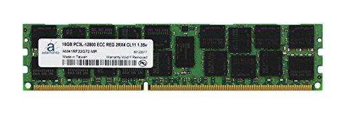 Ecc Gb Memory Server (Adamanta 16GB (1x16GB) Server Memory Upgrade for Dell Poweredge & Precision Servers DDR3L 1600Mhz PC3L-12800 ECC Registered 2Rx4 CL11 1.35v DRAM RAM)