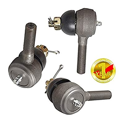 Ball Joint Kit,Set of (3) Tie Rod End with Grease Fitting Fits for Club Car DS Golf Carts (1976-2008): Sports & Outdoors