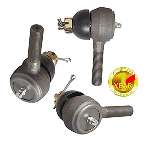 Ball Joint Kit,Set of (3) Tie Rod End with Grease Fitting Fits for Club Car DS Golf Carts (1976-2008)