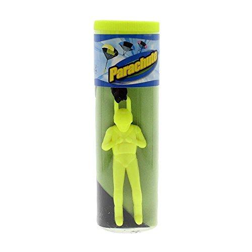 Tangle Free Toy Hand Throwing Parachute Kite Toy Fluorescent Dreen (Tangle Free Toy Parachute)