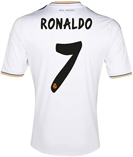 Amazon Com Cristiano Ronaldo Real Madrid Home Jersey Size Medium Soccer Jerseys Clothing