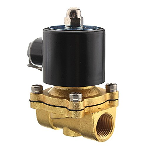 """Price comparison product image Quickbuying Brand New 12V 1/2""""Electric Solenoid Water Air Valve Gas 4 Train Horn Solid Coil Brass Material"""