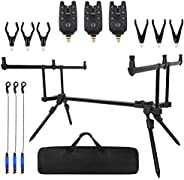 Adjustable Retractable Carp Fishing Rod Stand Holder Fishing Pole Pod Stand Fishing Tackle Set Fishing Accesso