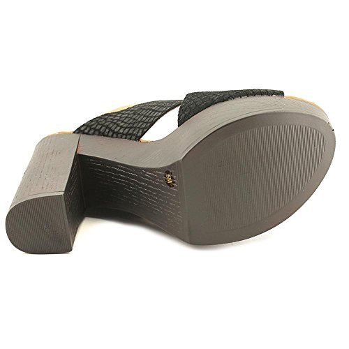 Inc International Concepts Womens Cyleb Leather Open Toe Slingback Piattaforma P. Nero