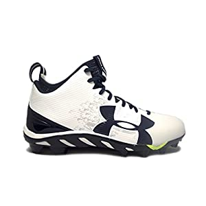 Under Armour Team Spine Fierce MC Men's Football Cleats (13, White/Midnight Navy/White)