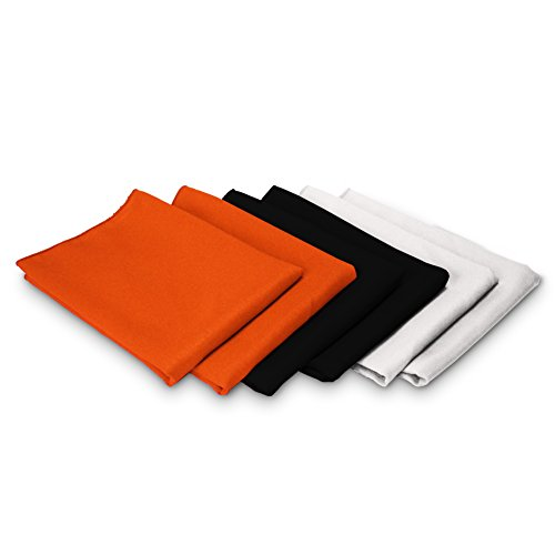TableLinensforLess Halloween Cloth Napkin Sets (6 Pack,