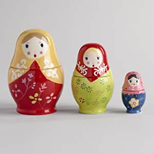 6pc Measuring Cups: Russian Dolls