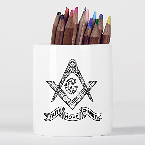 Faith Hope Charity Theological Virtues New Testament Christian Pencil pot by Micro Gorilla