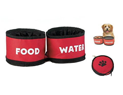 Collapsible and Foldable Duo Travel Pet Bowl