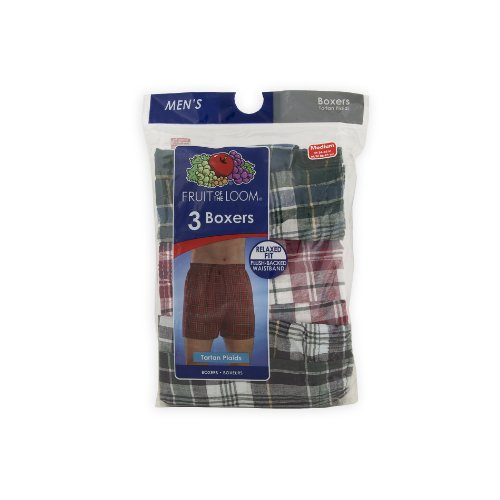 Fruit Of The Loom Tartan Boxers 3-Pack