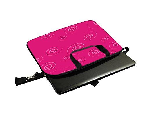 Snoogg Pink Muster Laptop Netbook Computer Tablet PC Schulter Case mit Sleeve Tasche Halter für Apple iPad/HP TouchPad Mini 210/Acer Aspire One und die meisten 24,6cm 25,4cm 25,7cm 25,9cm Zoll Net