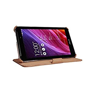Miroddi Leather Stand Case for Asus Fonepad 7 FE170CG-Brown
