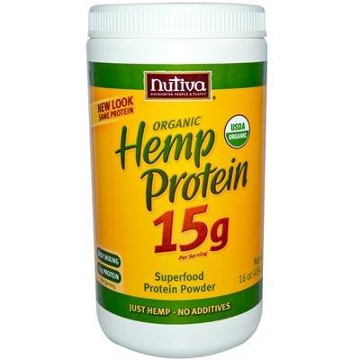 Nutiva Organic Hemp Protein Powder, 16 Ounce - 3 per case. by Nutiva