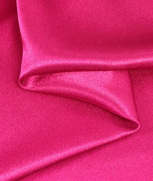 - Fuchsia Crepe Back Satin Fabric - by the Yard