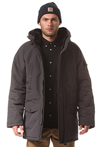 Carhartt Anchorage Parka eclipse/black (grau) - Herren Wintermantel mit Fell