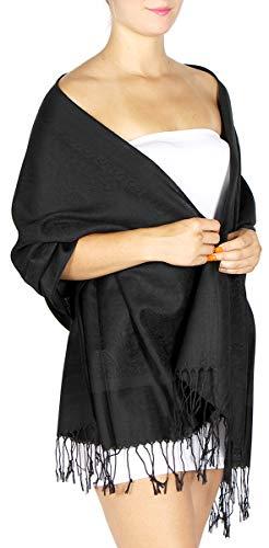Pashmina Scarfs for women large cashmerefeel reversible shawl wraps - soft paisley scarf ()