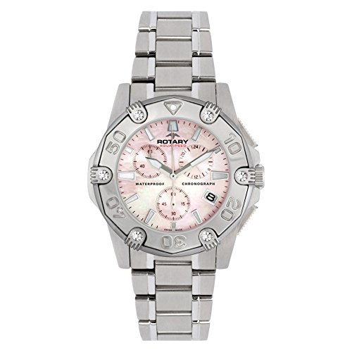 Rotary Women's ALB90033/C/07 Aquaspeed Sports Chronograph Bracelet Swiss-Made Watch