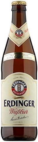 Erdinger Weissbrau con Fine levadura 50cl cerveza de trigo (Pack de 12 x 500 ml)