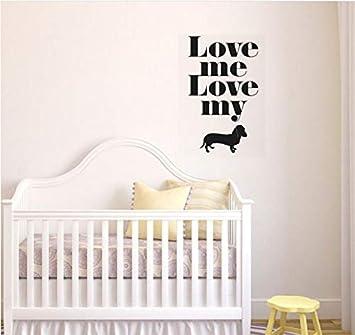 Love Me Love My Dog etiqueta de la pared cotizaciones tatuajes de ...