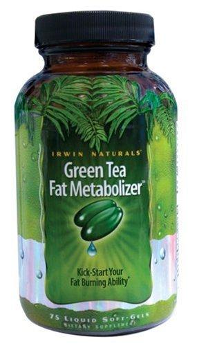 Irwin Naturals Green Tea Fat métaboliseur alimentaires Caps Liquid Gel Supplément, 75-Count Bouteilles (Pack de 2)
