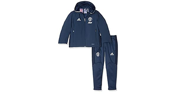 adidas Manchester United Pre Sui In Sudadera, Niño, Azul, 104 ...