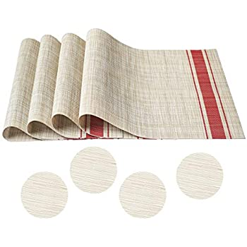 Amazon Com Fiveren Placemats And Coasters For Dinner