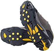 Crampons Cleats, Non-Slip Snow Step & Ice Cleats Anti-Slip Overshoes Studded Ice Traction Shoe Covers Spik