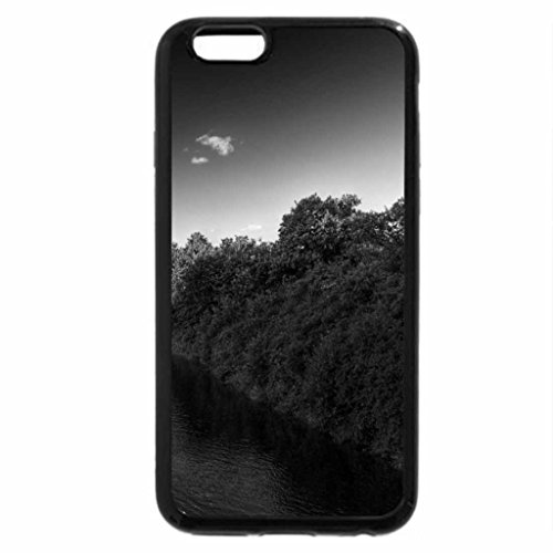 iPhone 6S Plus Case, iPhone 6 Plus Case (Black & White) - Beautiful River Bridge