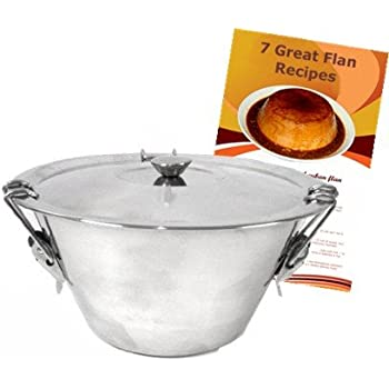 Flan Mold Conic Shaped. Stainless Steel. 1 quart capacity. Flan recipes included