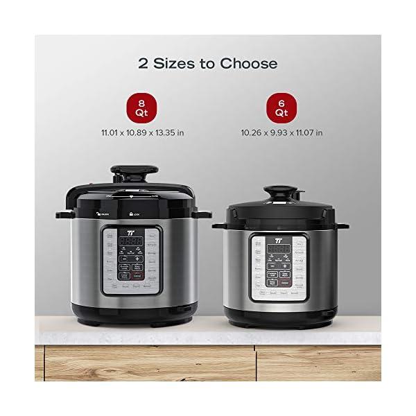 TaoTronics TT-EE007 Electric Pressure Cookbook 8QT, 10-in-1 Multi-Use, 16 Programs, Slow, Rice Cooker, Steamer, Sauté… 6