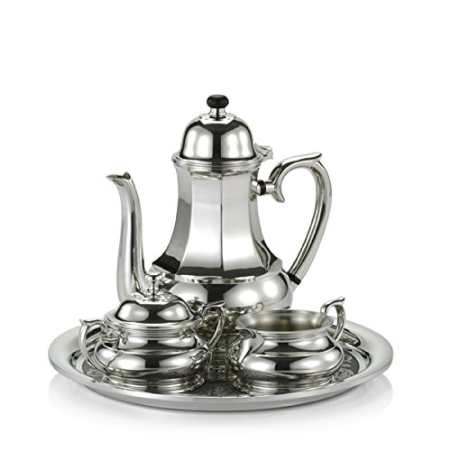 Royal Selangor Hand Finished Sovereign Collection Pewter Coffee Set in Wooden Gift Box