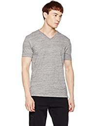 Men's Classic Short Sleeve V-Neck T-Shirt M Gray
