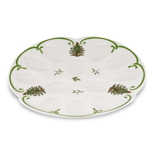 Spode Christmas Tree Devilled Egg (Christmas Deviled Eggs)