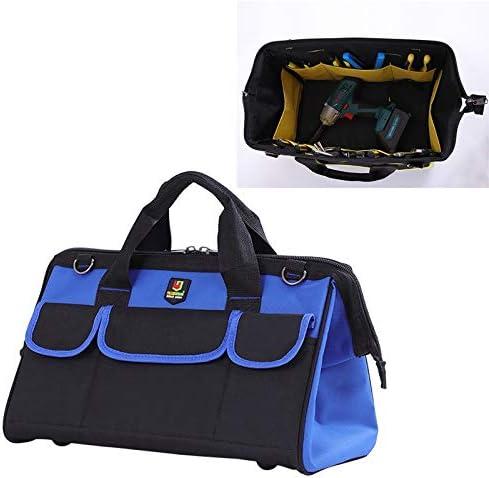 HZG 多機能オックスフォード布電気技師ベルトポーチメンテナンスツールハンドバッグショルダーバッグ便利なハードウェアツールバッグ、サイズ:14インチ(ブルー) 職人スペシャルパッケージ (Color : Blue)
