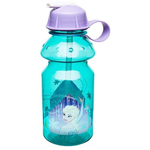 Zak Designs Frozen 14oz Kids Water Bottle with Straw - BPA Free with Easy Clean Design, Frozen Girl ()