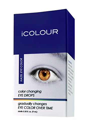 iCOLOUR Color Changing Eye Drops - Change Your Eye Color Naturally - 1 Month Supply - 9 mL (Hazel) -
